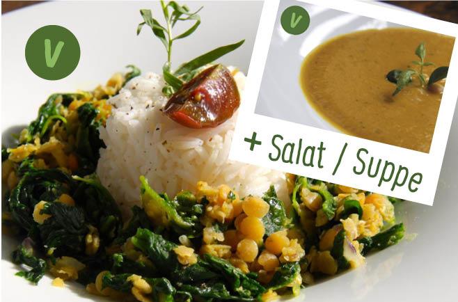 rita bringt 39 s indisches palak dhal mit gew rz basmati suppe oder salat. Black Bedroom Furniture Sets. Home Design Ideas