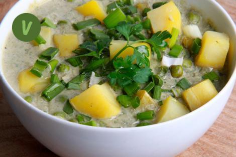 Erdäpfel Kokos Curry