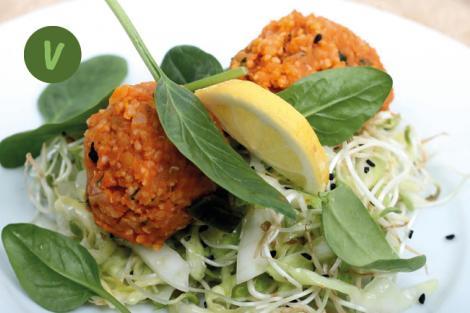 Fenchel Kraut Salat mit Köfte