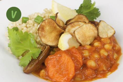 Marokkanische Kichererbsen mit Quinoa