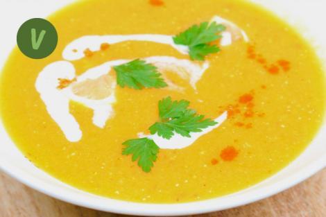 Indische Rote Linsen Suppe