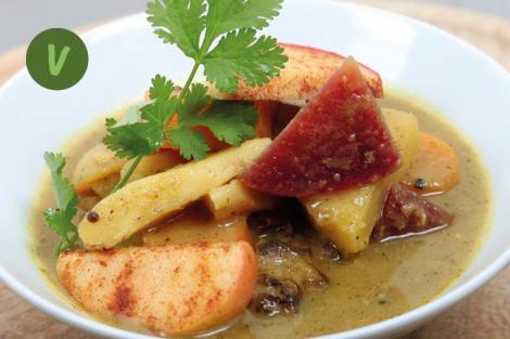 Curry mit Bratapfel