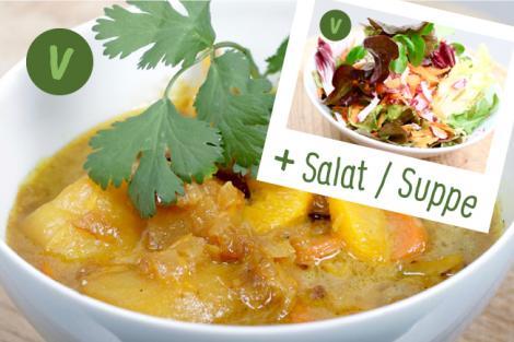 Menü Fenchel Orangen Curry