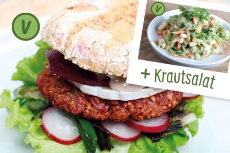 Menü Frühlings Burger
