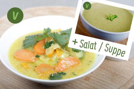 rita bringt 39 s gelbes thai curry mit zucchini und mandel couscous suppe oder salat. Black Bedroom Furniture Sets. Home Design Ideas